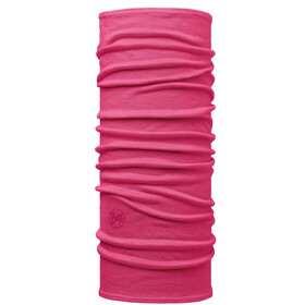 Buff Lightweight Merino Wool Neck Tube Kids solid pink